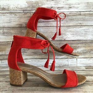 Bandolino Semise 8M Orange Ankle Tie Sandal